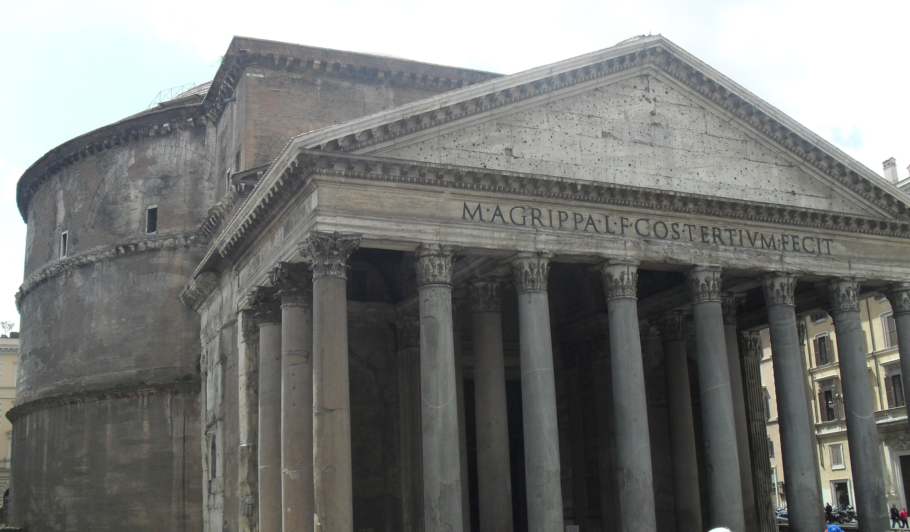 the construction of the ancient roman pantheon 11 monumental facts about the pantheon construction began in 1822 on the walls of the basement of the roman basilica at smyrna, an ancient greek city.